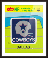1981 Dallas Cowboys Fleer Decal Art Picture Frame print