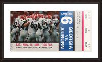 1985 Georgia vs. Auburn Picture Frame print