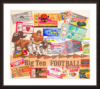Big Ten Football Ticket Stub Collage Picture Frame print