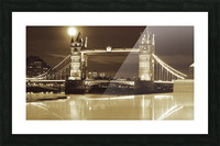 Vintage Tower Bridge - london  Picture Frame print