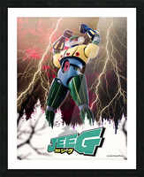 Kotetsu Jeeg - Steel Jeeg Picture Frame print
