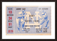 Black Friday Deals 1947 Notre Dame vs. Army Picture Frame print