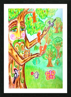 The tree of the prophetic wood and the friends of the wood Picture Frame print