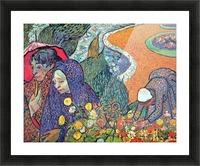 Promenade in Arles by Van Gogh Picture Frame print