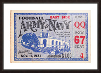 1931 Army vs. Navy Picture Frame print
