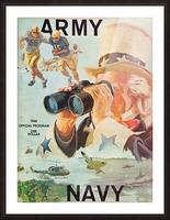 1966 Army vs. Navy Football Program Picture Frame print