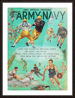 1965 Army vs. Navy Football Program Picture Frame print