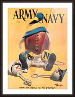 1967 army navy football program Picture Frame print
