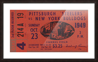 1949 Pittsburgh Steelers vs. New York Bulldogs Picture Frame print