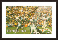 1979 Miami Dolphins Art Picture Frame print