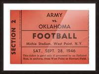 1946 Army vs. Oklahoma Picture Frame print