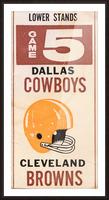 1969 Cleveland Browns vs. Dallas Cowboys Picture Frame print