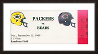 1988 Green Bay Packers vs. Chicago Picture Frame print