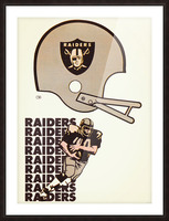 1976 Oakland Raiders Art Picture Frame print