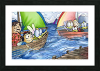 A Dream of Summer - Boats Picture Frame print