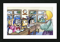 School Days - Classroom Picture Frame print