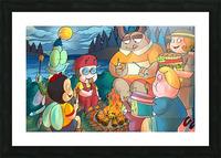 Summer Camp - Bonfire Picture Frame print