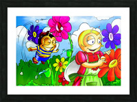 Mother Bee at Work - Bugville Critters Picture Frame print