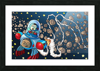 Buzzing Around the Solar System Picture Frame print