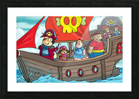 Pirate Ship Picture Frame print