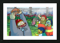 Football With Friends Picture Frame print