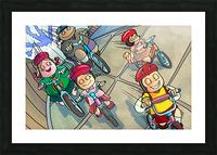 Riding Bikes Picture Frame print