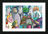 Halloween Party Picture Frame print