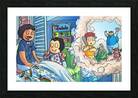 Baseball dreams - Bugville Critters Picture Frame print