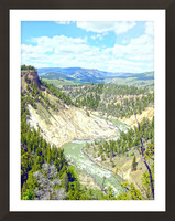 Wild Yellowstone Picture Frame print