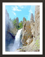 Yellowstone Waterfall - Grand Canyon of the Yellowstone River - Yellowstone National Park Picture Frame print