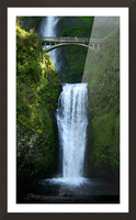Multnomah Waterfalls Oregon Picture Frame print