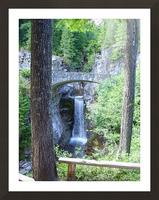 Christine Falls at Mount Rainier Pacific Northwest Picture Frame print