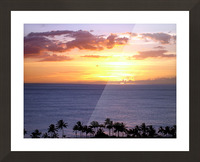 Golden Hawaii Picture Frame print
