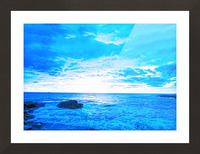 Blue World Picture Frame print