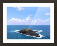 Secret Island Picture Frame print