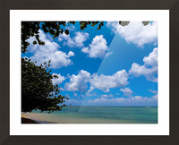 Turquoise Waters & Blue Skies Picture Frame print
