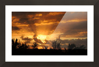 Golden Heavens Picture Frame print