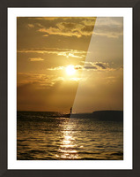 Gone Fishing Picture Frame print