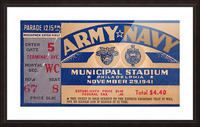 1941 Army Navy Game Picture Frame print