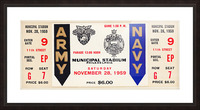 1959 Army Navy Game Ticket Picture Frame print
