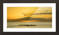 Long Canoes at Sunset Picture Frame print