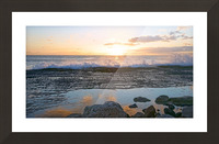 Reflections at the Sea Shore Picture Frame print