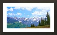 Rocky Mountain High Colorado Panorama  Picture Frame print