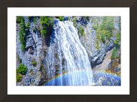 Rainbow Falls Rainier Picture Frame print
