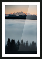Mont Blanc and its sea of clouds Picture Frame print