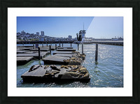 The Wharf @ San Francisco Picture Frame print