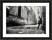 Silent Street Picture Frame print
