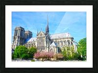 Notre Dame @ Paris Picture Frame print
