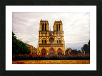 Jeanne d Arc and Saint Croix Cathedral at Orleans   France 1 of 7 Picture Frame print