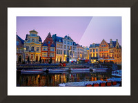 I Dreamed of Belgium Picture Frame print